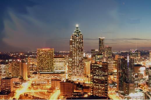 Atlanta area skyline
